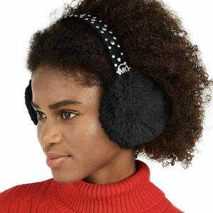 MICHAEL Michael Kors Studded Faux Fur Earmuffs